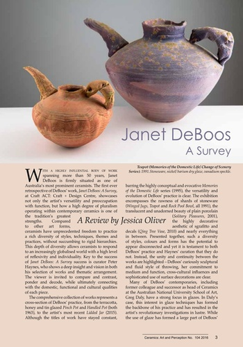 digital magazine Ceramics: Art and Perception publishing software