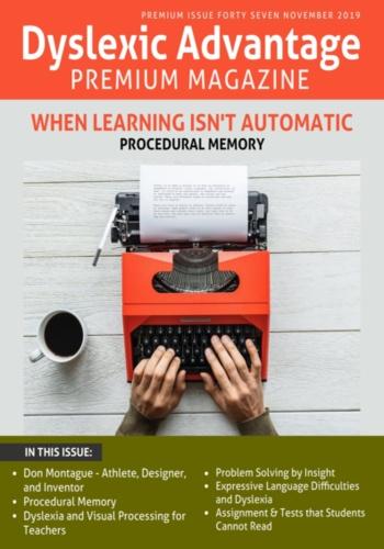 digital magazine Dyslexic Advantage publishing software